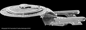 METAL EARTH STAR TREK - USS ENTERPRISE NCC-1701- D