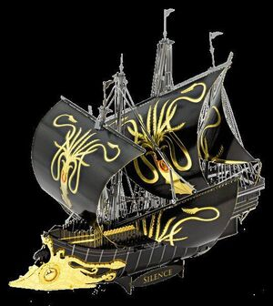 METAL EARTH  GAME OF THRONES - GREYJOY SHIP SILENCE