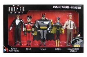 THE NEW BATMAN ADVENTURES PACK 5 FIGURAS FLEXIBLES HEROES DC