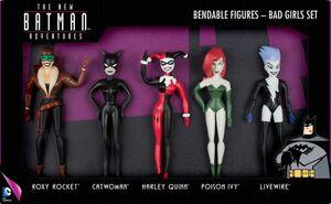 THE NEW BATMAN ADVENTURES PACK 5 FIGURAS FLEXIBLES BAD GIRLS UNIVERSO DC