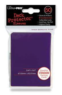 DECK PROTECTOR ULTRA PRO SOLID DECK PURPLE (50)