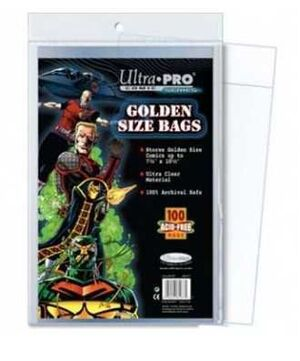 BOLSAS PARA COMIC ULTRA-PRO STOR BAGS GOLDEN/ 100UDS 20*26*6