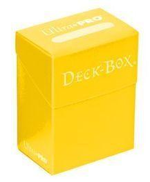 DECK BOX ULTRA PRO SOLID YELLOW (AMARILLO)