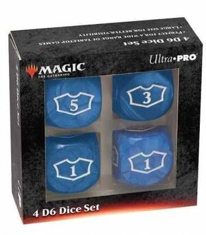 MAGIC THE GATHERING DICE SET DE 6 DELUXE LOYALTY 22 MM BLUE