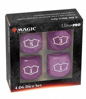 MAGIC THE GATHERING DICE SET DE 6 DELUXE LOYALTY 22 MM PURPLE