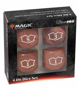 MAGIC THE GATHERING DICE SET DE 6 DELUXE LOYALTY 22 MM RED