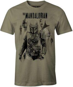 STAR WARS THE MANDALORIAN CAMISETA MANDALORIAN VS STORMTROOPERS L