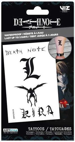 DEATH NOTE TATTOOS 15 X 10 CM