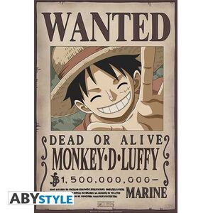 POSTER ONE PIECE WANTED LUFFY NEW 2 52 X 35 CM