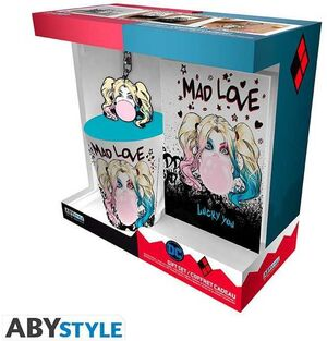 HARLEY QUINN SET REGALO TAZA 250ML + LLAVERO + NOTEBOOK