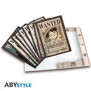 POSTER ONE PIECE PORTFOLIO 9 POSTERS WANTED LUFFY´S CREW WANO