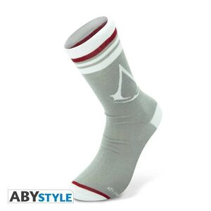 ASSASSIN'S CREED CALCETINES GRIS, BLANCO CREST