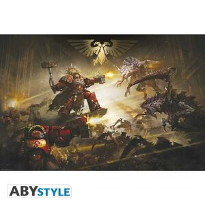POSTER WARHAMMER 40K THE BATTLE OF BAAL 91.5 X 61 CM