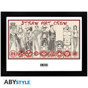 ONE PIECE POSTER ENMARCADO STRAW HAT CREW