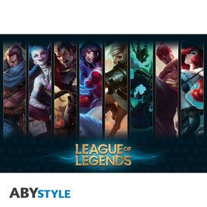 POSTER LEAGUE OF LEGENDS CHAMPIONS 91,5 X 61