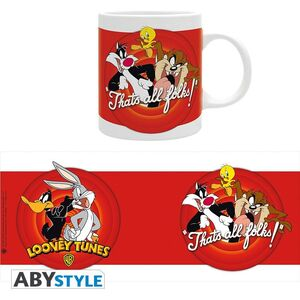 LOONEY TUNES TAZA 320ML THAT'S ALL FOLKS