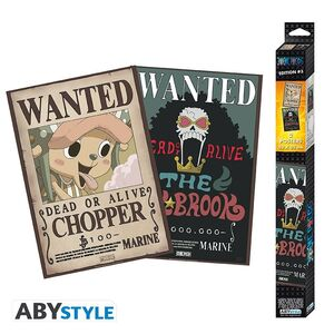 POSTER ONE PIECE SET 2 CHIBI POSTERS - WANTED BROOK & CHOPPER 52X35CM