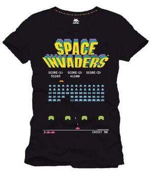 SPACE INVADERS CAMISETA NEGRA ARCADE GAME L