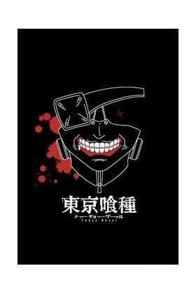 TOKYO GHOUL CAMISETA NEGRA CHICO MASCARA KANEKI T-L