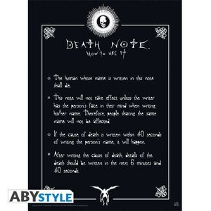 POSTER DEATH NOTE RULES 52 X 38 CM