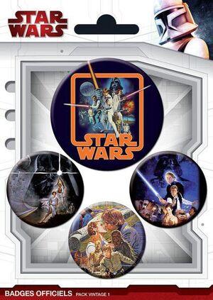 STAR WARS CHAPAS PACK DE 4 VINTAGE #1