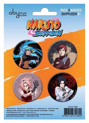 NARUTO CHAPAS PACK DE 4 PERSONAJES #1