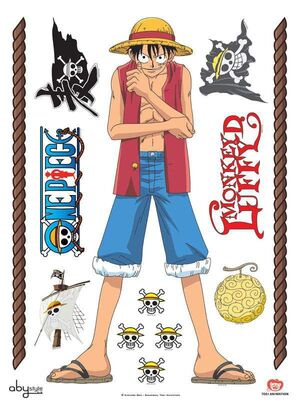 ONE PIECE STICKERS DE PARED LUFFY