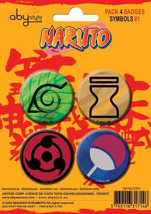 NARUTO CHAPAS PACK DE 4 SIMBOLOS #1