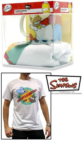 SIMPSONS CAMISETA ITCHY & SCRATCHY L + TAZA + CHAPA