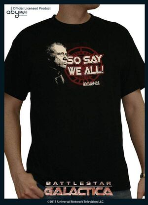 BATTLESTAR GALACTICA CAMISETA SO SAY WE ALL L