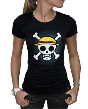 ONE PIECE CAMISETA CHICA SKULL WITH MAP L