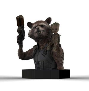 GUARDIANES DE LA GALAXIA VOL.2 BUSTO 1/6 16 CM ROCKET RACCOON & GROOT