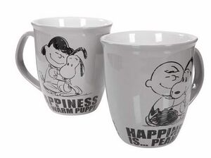 SNOOPY TAZA HAPPINESS IS...