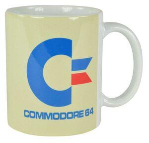 COMMODORE 64 TAZA WHITE LOGO