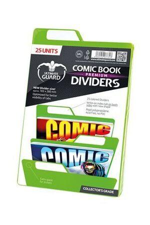 ULTIMATE GUARD PREMIUM COMIC BOOK DIVIDERS SEPARADORES VERDE (25)