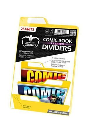 ULTIMATE GUARD PREMIUM COMIC BOOK DIVIDERS SEPARADORES AMARILLO (25)