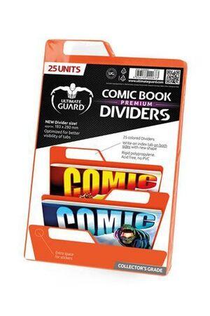 ULTIMATE GUARD PREMIUM COMIC BOOK DIVIDERS SEPARADORES NARANJA (25)