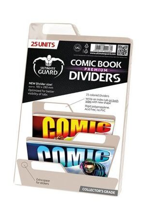 ULTIMATE GUARD PREMIUM COMIC BOOK DIVIDERS SEPARADORES BEIGE (25)