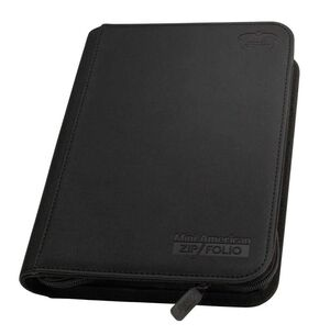 ULTIMATE GUARD 18-POCKET XENOSKIN ZIPFOLIO 360 MINI AMERICAN NEGRO