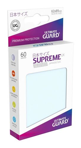 ULTIMATE GUARD SUPREME UX FUNDAS CARTAS TAMAÑO JAPONES TRANSPARENTE (60)