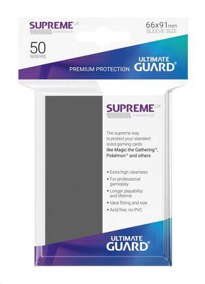ULTIMATE GUARD SUPREME UX SLEEVES FUNDAS CARTAS ESTANDAR GRIS OSCURO (50)