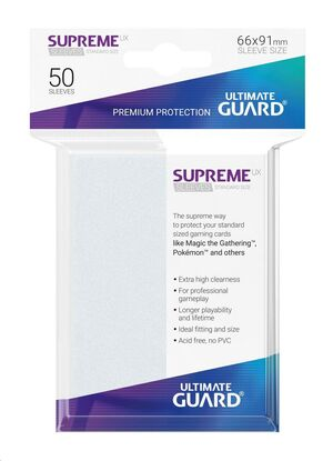 ULTIMATE GUARD SUPREME UX SLEEVES FUNDAS CARTAS ESTANDAR FROSTED (50)