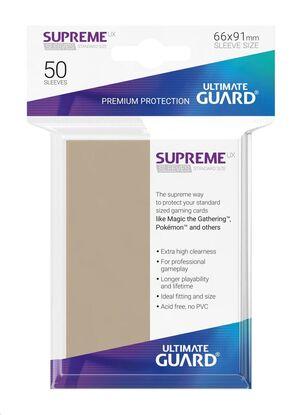 ULTIMATE GUARD SUPREME UX SLEEVES FUNDAS CARTAS ESTANDAR BEIGE (50)