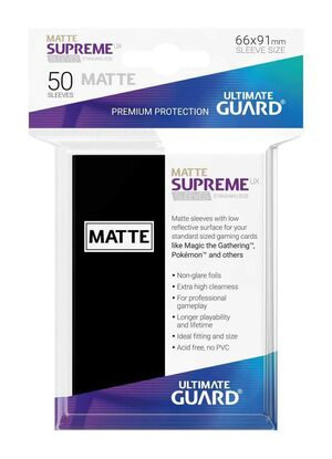 ULTIMATE GUARD SUPREME UX FUNDAS CARTAS TAMAÑO ESTANDAR NEGRO MATE (50)