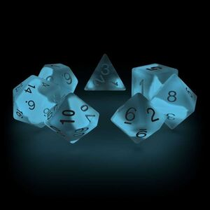 OAKIE DOAKIE DADOS RPG SET DE 7 GLOW IN THE DARK ARCTIC