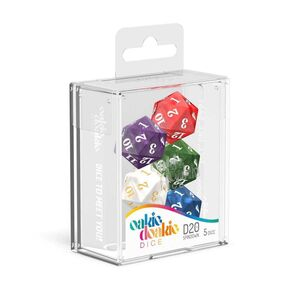 OAKIE DOAKIE DADOS RPG SET DE 5 SPINDOWN D20 MARBLE