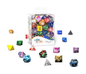 OAKIE DOAKIE DADOS RPG-SET SPINDOWN D20 RETAIL PACK MIXED