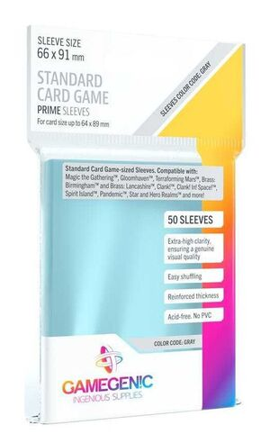 GAMEGENIC: PRIME STANDARD CARD GAME SLEEVES 66X91MM (50)