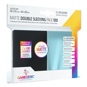 GAMEGENIC: MATTE DOUBLE SLEEVING PACK (100)