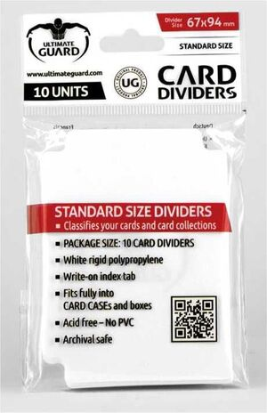ULTIMATE GUARD CARD DIVIDERS TARJETAS SEPARADORAS (10) BLANCO